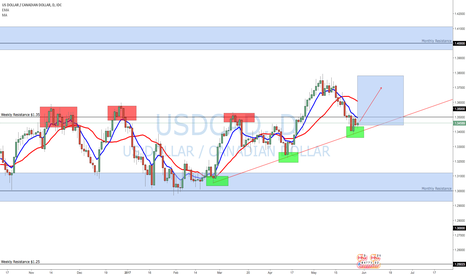 USDCAD: Patience: Free money? RALLY NORTH USDCAD? Take A look