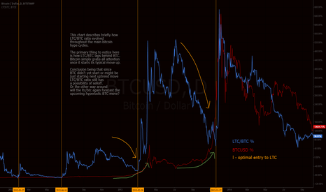 BTCUSD: LTC/BTC ratio in comparison with Bitcoin hype cycles