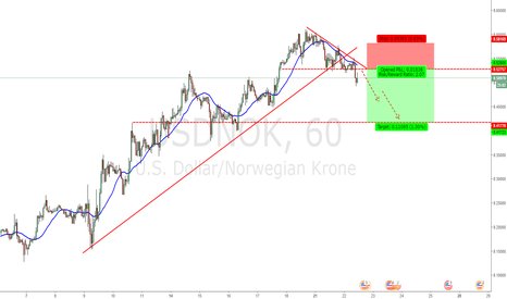 USDNOK: A swing short!