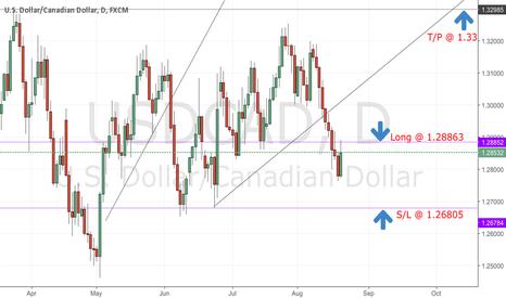 USDCAD: Long term daily chart trade idea buy on UC