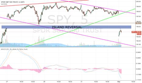 SPY: SPY = island reversal