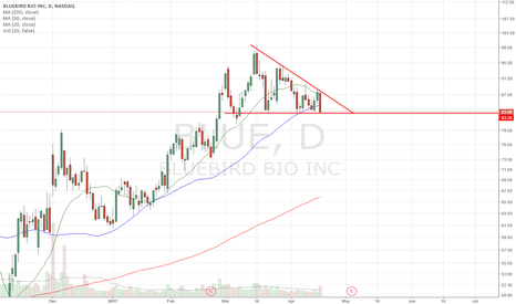 BLUE: Clean Descending Triangle setting up.