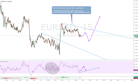 EURCAD: EURCAD, Bull Flag? with divergences for high probability buy
