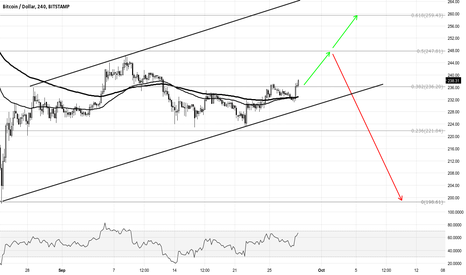 BTCUSD: If 236$ holds we may test 250$