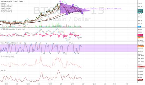 BTCUSD: Pennant. short term bull, mid term bear, long term bull