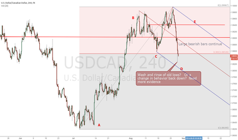 USDCAD: New lower low in USDCAD marks a need for re-evaluation