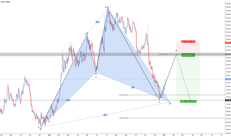 XAUUSD: XAU/USD - Bullish Cypher & Bearish 5-0