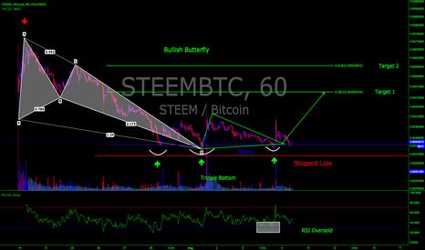 STEEMBTC: STEEM/BTC Bullish Butterfly 60 Min