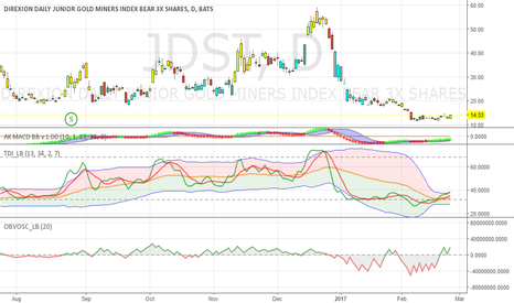 JDST: gold miners trending down