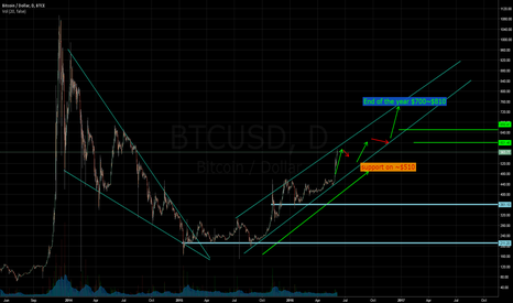 BTCUSD: Bitcoin at my perspective to the end of the year 2016