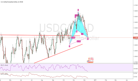 USDCAD: Bullish Cypher on USDCAD Completing at Prev consolidation