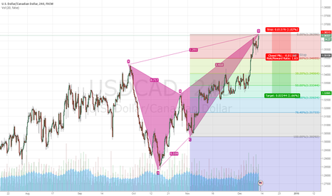 USDCAD: USD/CAd Butterfly Pattern or not ?