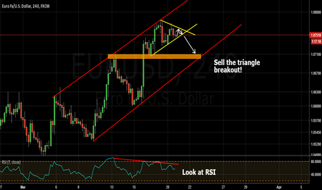 EURUSD: trying to catch bear breakout of triangle