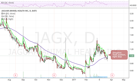 JAGX: Slingshot, reversal on the day,  low risk entry here