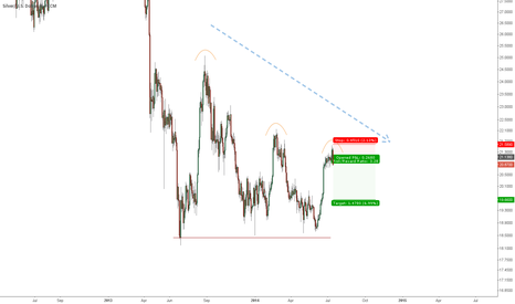 XAGUSD: Top in Silver seems to be set!