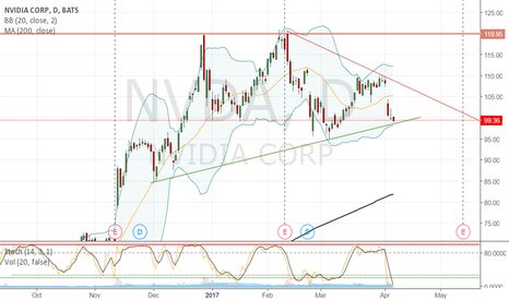 NVDA: NVIDIA managed to stay above support line