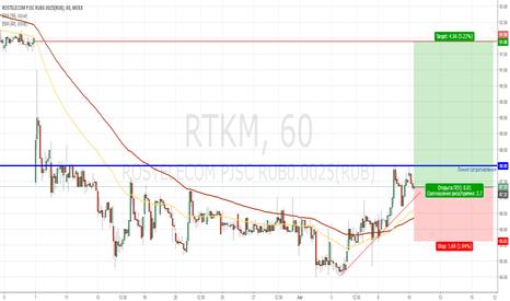 RTKM: Ростелеком. Попробуем поучаствовать в пробое 88