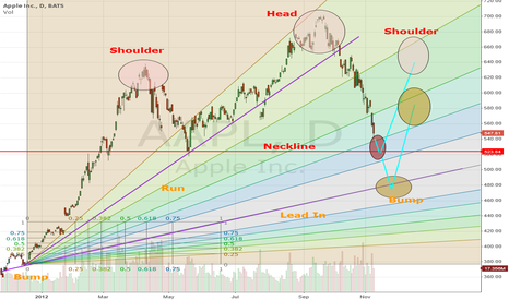 AAPL: H&S or Bump and Run?