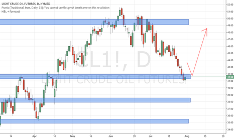 CL1!: Crude Oil testing Support, watch out for Bullish Price Action