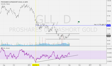 GLL: GLL -2x GOLD DAILY RETURN ETF, BULLISH SETUP