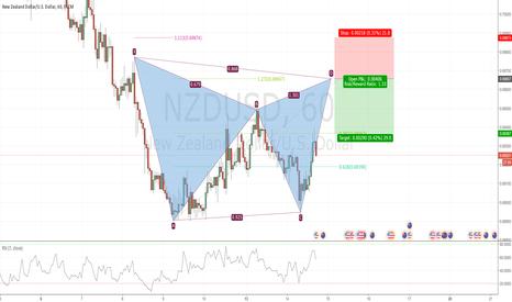 NZDUSD: Potential Bearish Gartley in NZDUSD