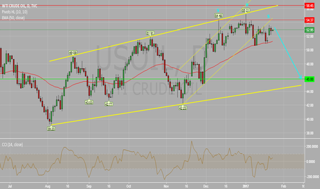 USOIL: WTI Crude Oil Daily Chart : Potential Drop Below $50