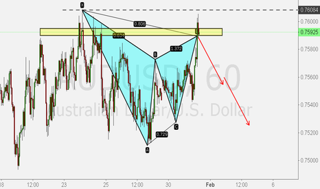 AUDUSD: Gartley pattern AUDUSD