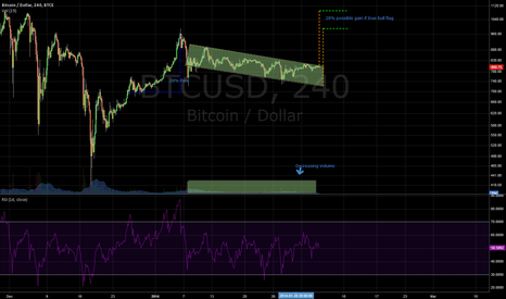BTCUSD: Possible Bull Flag