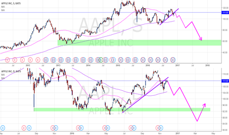 AAPL: AAPL en corto el resto del año / AAPL short the rest of the year
