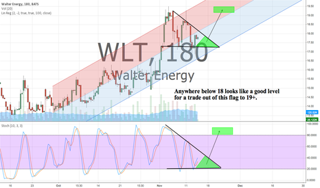 WLT: WLT nice formation ready for a push back to 19+