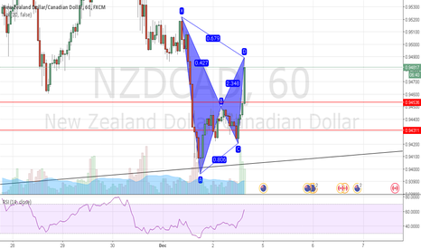 NZDCAD: a bearish gartley
