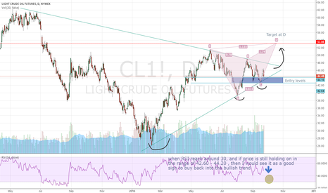 CL1!: Potential Long for Oil from a Daily perspective with Harmonic