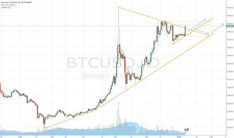 BTCUSD: Bitcoin BTCUSD: Jan - mid Feb uptrend continues