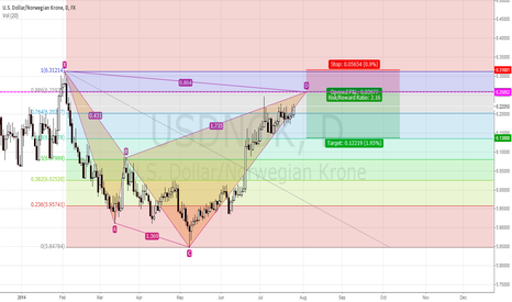 USDNOK: Bearish Shark