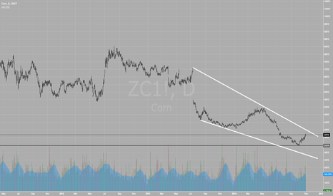 ZC1!: CORN Daily Falling Wedge