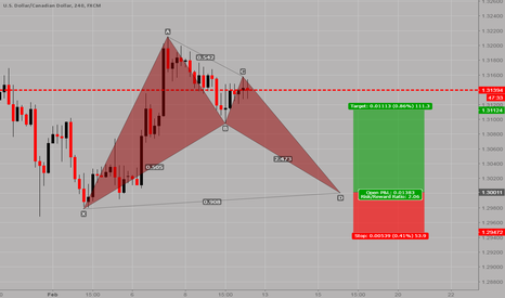 USDCAD: USDCAD: Potential bullish bat pattern on the 4H