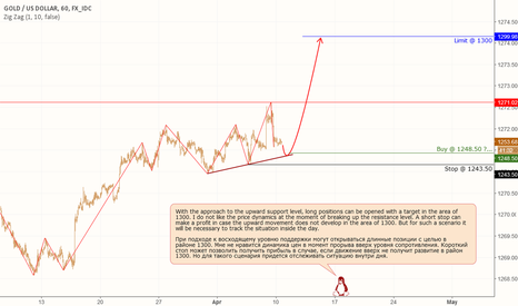 XAUUSD: Gold: Possible scenario for continuing the uptrend.