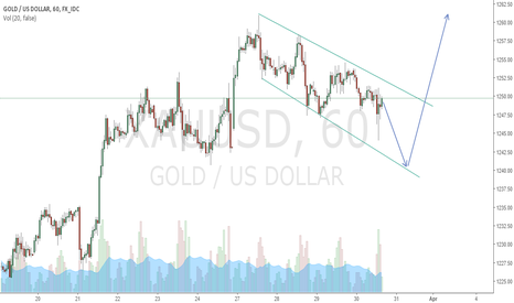 XAUUSD: Possible bull falg on gold h1
