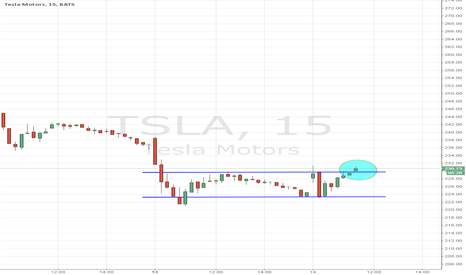 TSLA: two day range breakout on watch, above 230 looks good