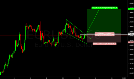 EURUSD: EUR/USD (((FORECAST))) Bull Flag
