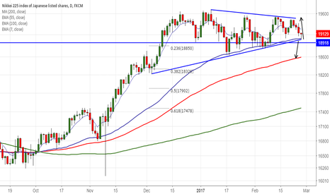 JPN225: Nikkei225 takes support trendline, good to buy on dips