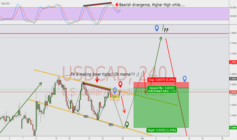 USDCAD: Bullish 3-Drive Idea! Next leg is short, let's see what happens!