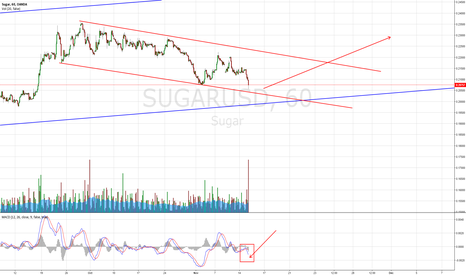 SUGARUSD: wait for the MACD cross - and then going long