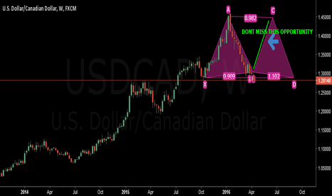 USDCAD: A BIG MOVE IS COMING IN THE USDCAD,