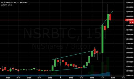 NSRBTC: Bull run for NSRBTC on Poloniex