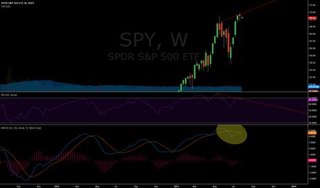 SPY: Weekly bearish divergence..