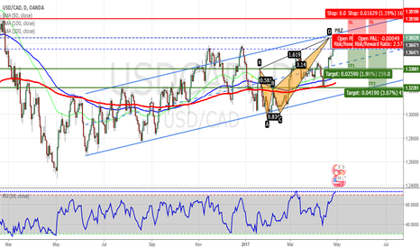 USDCAD: USDCAD - Bearish Crab Completed on Daily Chart