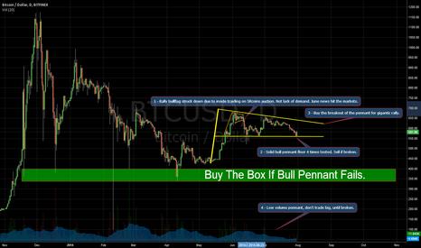 BTCUSD: Bull Pennant After Silk Road Bitcoin Auction