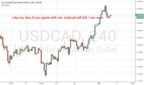 USDCAD: Like my idea if u agree with me. Usdcad will fall.