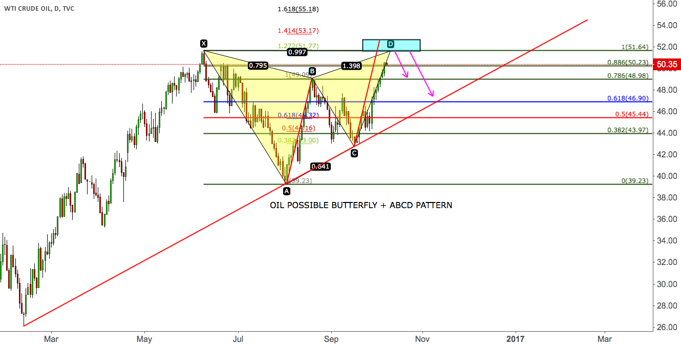OIL POSSIBLE BUTTERFLY + ABCD PATTERN